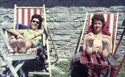Karen Nyboe og Annie i Østrig