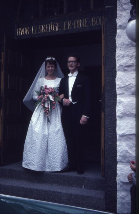 274  Annie og Gunnar efter vielsen 21. juli 1962