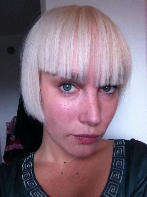 Astrid med nyt hår
